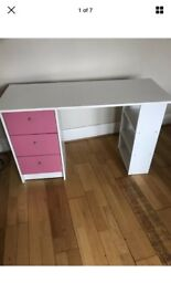 White & Pink Desk