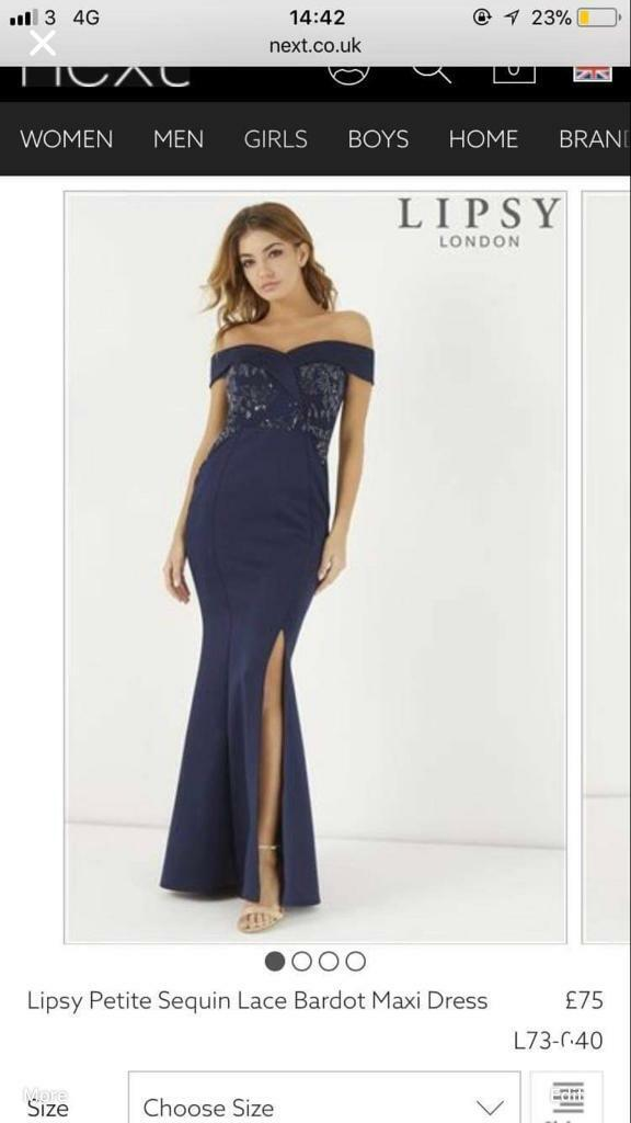 89e962da Lipsy Sequin Lace Bardot Maxi Dress | in Cramlington ...