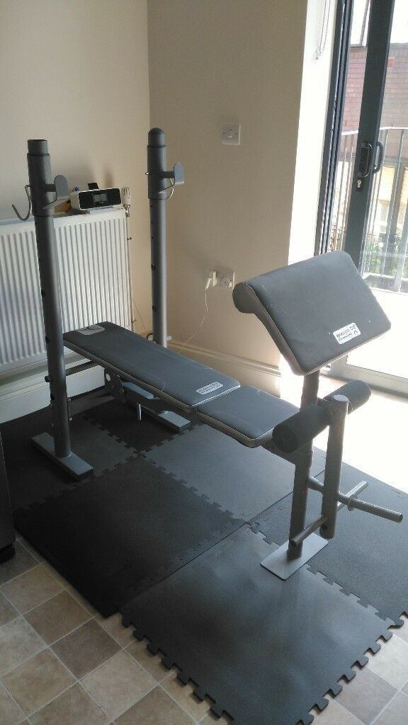 Bench press with leg extension home gym fold away design