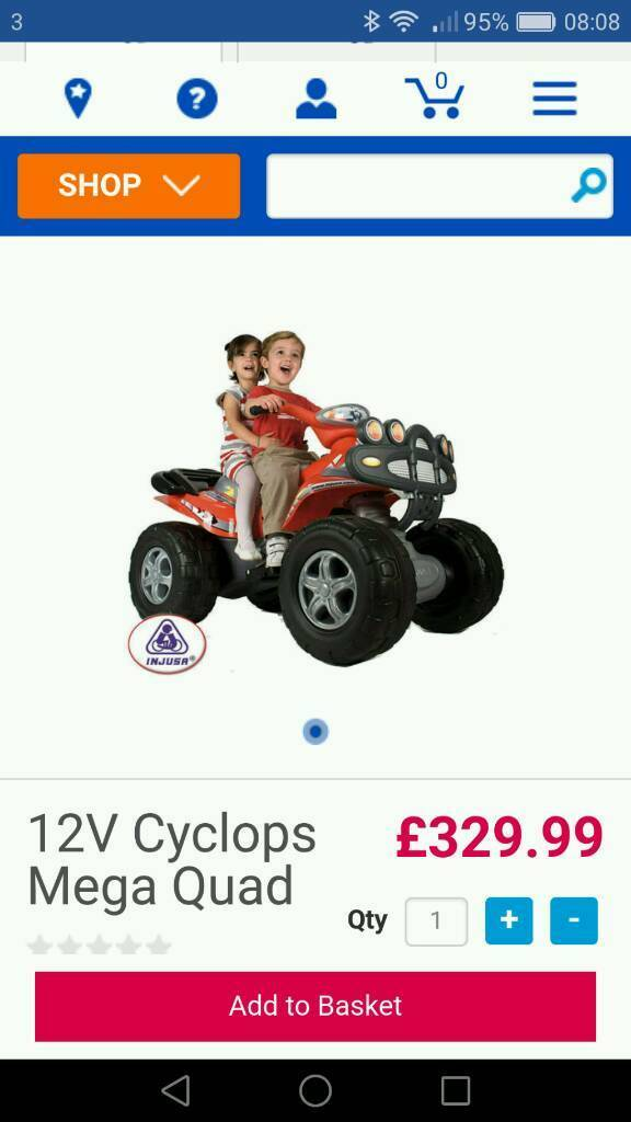 Cyclops 12v mega quad VGC perfect gift for Christmas.