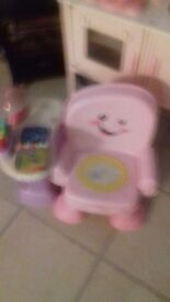 Childs fisher price pink playchair