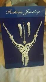 Earing necklace and tikka set new