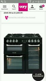 Duel fuel black range leisure cuisine cooker HAP5003