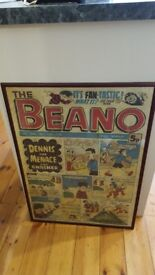 large vintage retro Beano picture