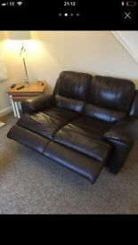 Brown leather suite only 8 months old