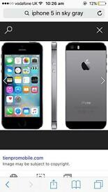 iPhone 5 in sky gray