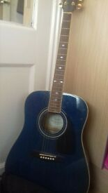 Fender Steel String Acoustic Guitar (blue )