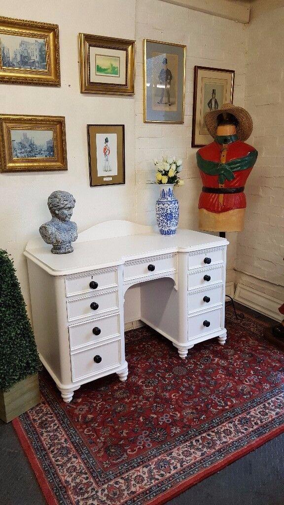 Antique solid oak dressing table desk (John Bright Rochdale)
