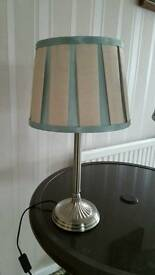 Two Chelsea Pleat Table Lamps