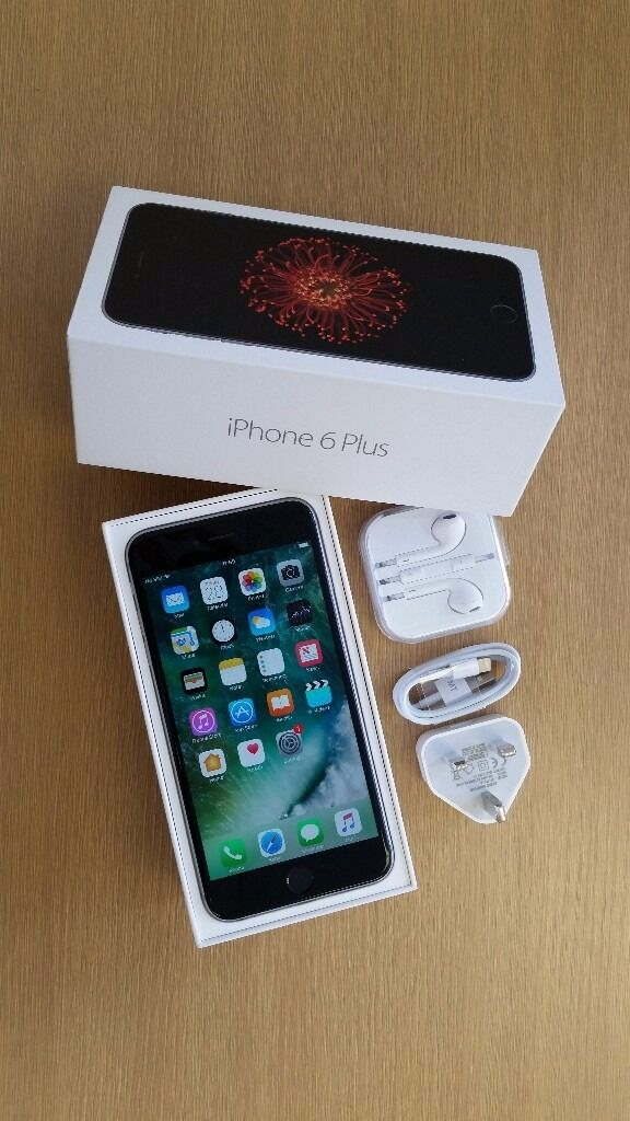 """iPhone 6 PLUS """"LOCKED ON O2in Stoke on Trent, StaffordshireGumtree - iPHONE 6 PLUS, GRAY COLOUR , 16GB, LOCKED ON O2 MINT CONDITION, COMPLETE BOX ((headphone, USB cable and charger )) WITH 6 MONTH WARRANTY"""