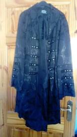 For sale black gothic style coat