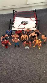 Vintage Wrestling Figures and Ring