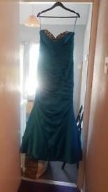 Turquoise blue mermaid prom dress