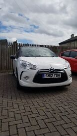 Citroen Ds3 DStyle Plus 1.6 petrol 51k miles white