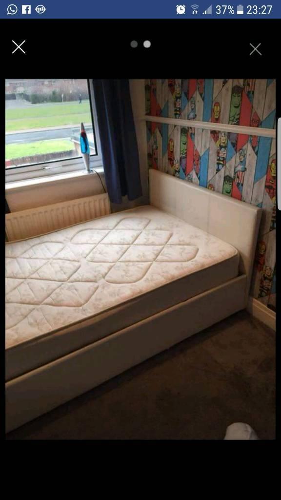 Queen sized storage bed