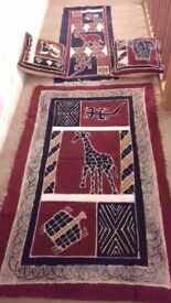 Table runner Wall hanging batik Art cushions cloth African