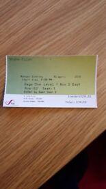 1x Shane Filan Ticket Sage Gateshead 30/04/18