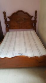 Bedroom furniture set stained pine
