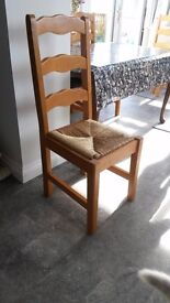 7 Pine Dining Chairs