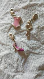 Girls clip on charms