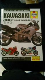 Kawasaki ZX600 ZZ-R600 Ninja ZX-6 manual