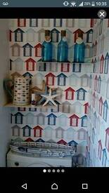 Nautical bathroom decorative items and shelves
