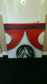 Volkwagon large canvas picture