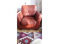 2 LEATHER ARMCHAIRS -MAKE AN OFFER TODAY