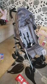 Grey stroller