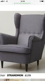 BRAND NEW Ikea Armchair with Pouffe