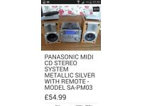 Panasonic midi mini cd stereo radio system open to offers