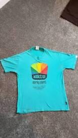 Addict T-Shirt Mens Small Cyan blue addictXSwifty Grafix limited art edition