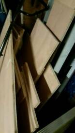 Ply wood selection of sizes