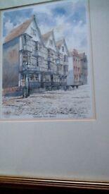 Framed signed print of Llandoger Trow ,Bristol