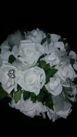 Wedding bouquet white