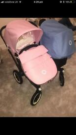 Bugaboo donkey duo pink and blue 💙💗 immaculate condition