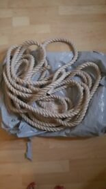 HEMP ROPE. NEW UNUSED.home stair rope or Garden use. 13' or 12 mtrs long. area BL5 or BB5 too