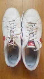 Nike white red size 10