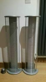 2 x Silver DVD Racks