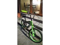 Childs green and black bmx style bike
