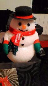 Christmas Acrylic light up Snowman