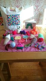 Hand Knitted The Very Hungry Caterpillar Story Sack- The Whole Story! Childminders, Schools, EYFS