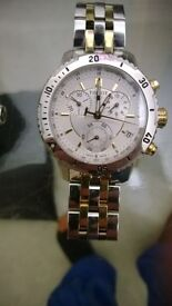 Tisott 1853 mens watch only 2 years old excellent condition, silver and gold