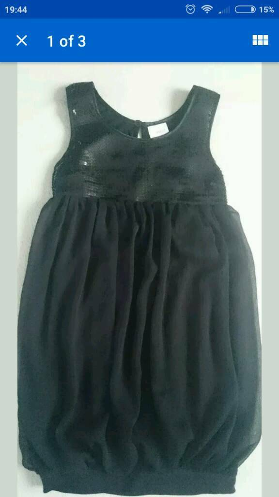 NEXT AND TU PARTY BLACK SEQUINED DRESSES SIZE 9 YEARS