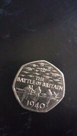 Rare 50p coin battle of britan 1940