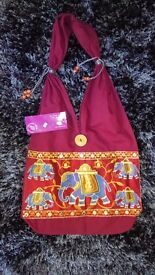 Fairtrade Namaste Elephant Festival Shoulder Bag Made in India RRP £16.99