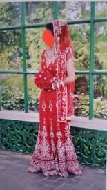 Red Bridal Lengha Dress