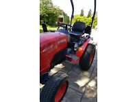 Kubota B2350 Compact Tractor and Spearhead Flail Mower. Used but in as new condition