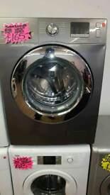SAMSUNG SILVER 8KG LOAD 1400 SPIN DIGITAL SCREEN WASHING MACHINE