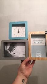Next Clock photo frame. Brand new